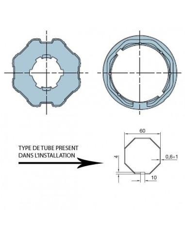 Adaptateur ERA M octogonal 60 NICE 515.06000