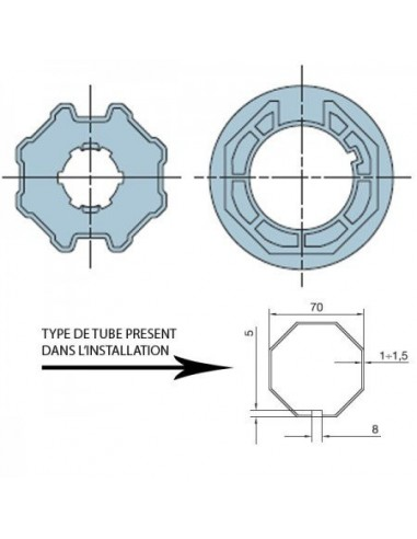 Adaptateur ERA M octogonal 70 515.07000 NICE