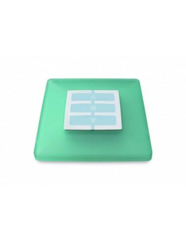 Plaque carrée vert d'eau OPLA WSS NICE