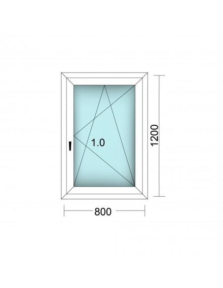 Fenêtre 1 Vantail Oscillo Battant 800x1200 D Antilles Fermetures