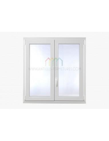 Fenêtre 2 Vantaux Oscillo Battant 1200x1200 Antilles Fermetures