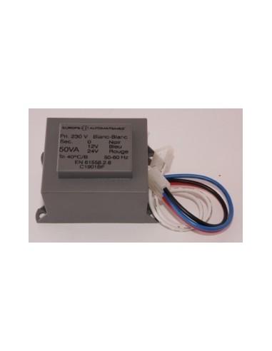 Transformateur 50 VA (2 connecteurs) 230 V EUROPE AUTOMATISMES